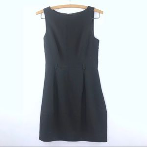 Theory Belted A Line Black Career Dress